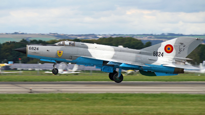 6824 - Mikoyan-Gurevich Mig-21MF Lancer C - Romania - Air Force