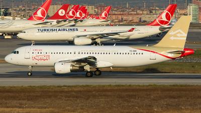TS-INN - Airbus A320-212 - Libyan Airlines (Nouvelair)