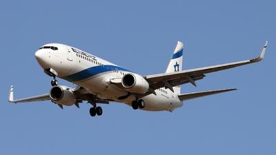 A picture of 4XEKT - Boeing 7378BK - El Al - © ikeharel