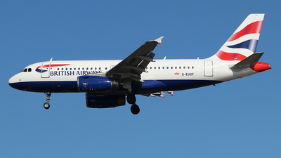 A picture of GEUOF - Airbus A319131 - British Airways - © Ferenc Kolos