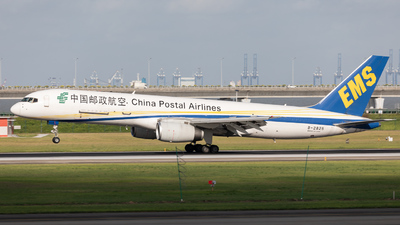 A picture of B2825 - Boeing 75721B(PCF) - China Postal Airlines - © Mel_Ben_Li