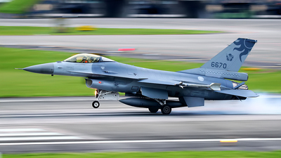 6670 - General Dynamics F-16A Fighting Falcon - Taiwan - Air Force