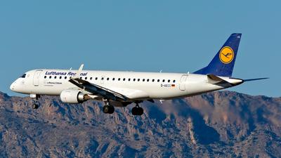 A picture of DAECC - Embraer E190LR - Lufthansa - © Manuel Marin