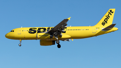 A picture of N611NK - Airbus A320232 - Spirit Airlines - © Yixin Chen