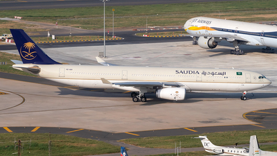 A picture of HZAQ11 - Airbus A330343 - Saudia - © Sandeep Pilania
