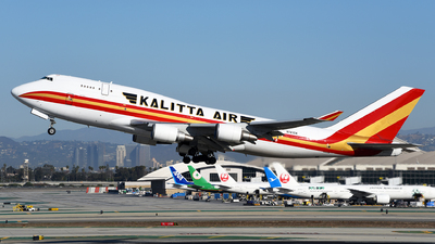 A picture of N741CK - Boeing 7474H6(BCF) - Kalitta Air - © Rocky Wang