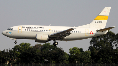 A-7307 - Boeing 737-5U3 - Indonesia - Air Force