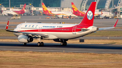 A picture of B6955 - Airbus A320232 - Sichuan Airlines - © Yan777