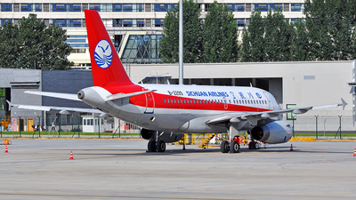 A picture of B2299 - Airbus A319133 - Sichuan Airlines - © LiuHanyu