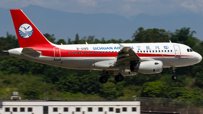 A picture of B6185 - Airbus A319133 - Sichuan Airlines - © zzy020213