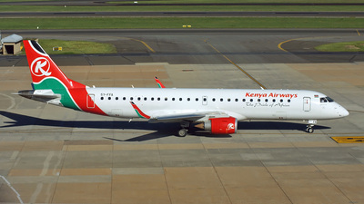 5Y-FFA - Embraer 190-100IGW - Kenya Airways