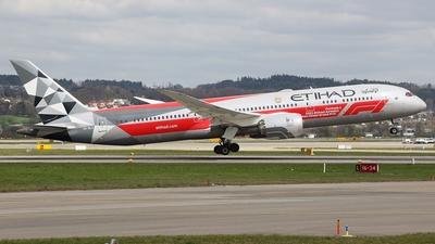 A picture of A6BLV - Boeing 7879 Dreamliner - Etihad Airways - © Nik Bannwart