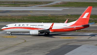 A picture of B6993 - Boeing 73789P - Shanghai Airlines - © Lazy Clutch