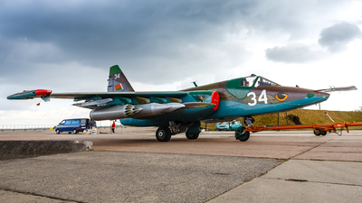 34 - Sukhoi Su-25 Frogfoot - Belarus - Air Force