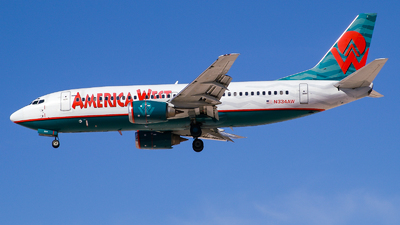N334AW - Boeing 737-3Y0 - America West Airlines