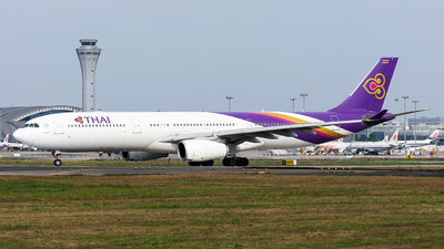 A picture of HSTEU - Airbus A330343 - Thai Airways - © Marcus Yu