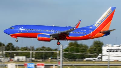A picture of N7748A - Boeing 7377BD - Southwest Airlines - © JC