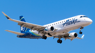 A picture of N186SY - Embraer E175LR - Alaska Airlines - © Ricky Teteris