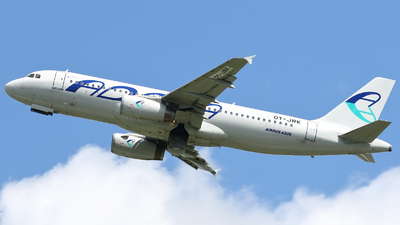 OY-JRK - Airbus A320-231 - Adria Airways (Danish Air Transport)