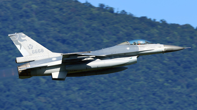 6668 - General Dynamics F-16AM Fighting Falcon - Taiwan - Air Force