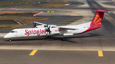 A picture of VTSUM - De Havilland Canada Dash 8400 - SpiceJet - © Akshay M