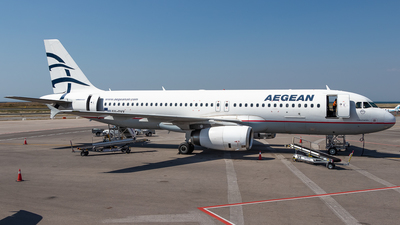 A picture of SXDVV - Airbus A320232 - Aegean Airlines - © James Dinsdale