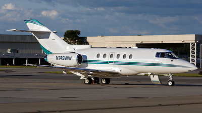 N749WW - Hawker Beechcraft 800XP - Private