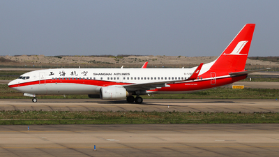 A picture of B5369 - Boeing 7378Q8 - Shanghai Airlines - © Charlie-Aviationphotography