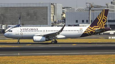VT-TTC - Airbus A320-232 - Vistara