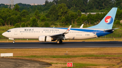 A picture of B5459 - Boeing 73785C - Hebei Airlines - © Predic. LXY!