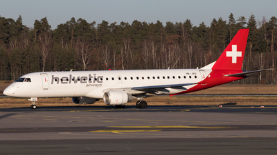 A picture of HBJVU - Embraer E190AR - Helvetic Airways - © Fabian Wlasak