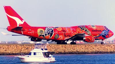 VH-OJB - Boeing 747-438 - Qantas