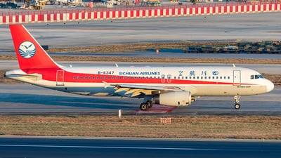 A picture of B6347 - Airbus A320232 - Sichuan Airlines - © Yan Shuai