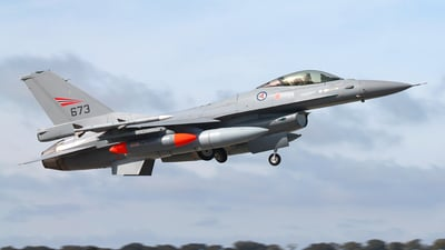 673 - General Dynamics F-16AM Fighting Falcon - Norway - Air Force
