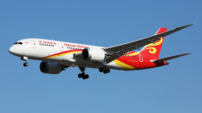 A picture of B2738 - Boeing 7878 Dreamliner - Hainan Airlines - © Cardohii.