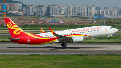 A picture of B1502 - Boeing 73784P - Hainan Airlines - © SunnyZUUU
