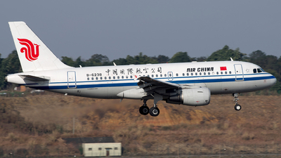A picture of B6238 - Airbus A319115 - Air China - © baobao723