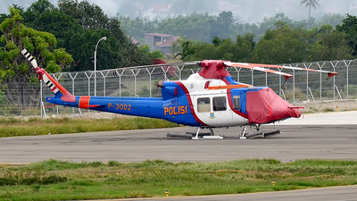 P-3002 - Bell 412EP - Indonesia - Police