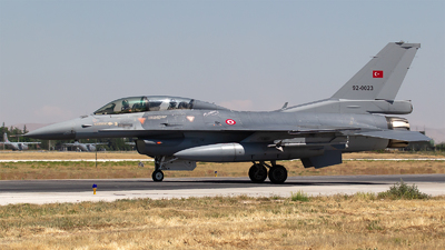 92-0023 - General Dynamics F-16D Fighting Falcon - Turkey - Air Force