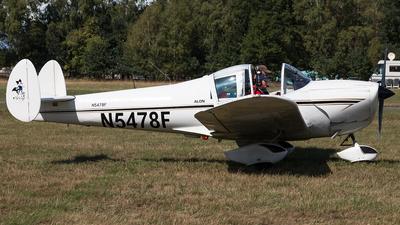 N5478F - Alon A-2 Aircoupe - Private