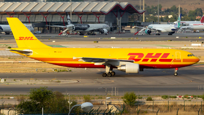 A picture of DAEAB - Airbus A300B4622R(F) - DHL - © Alejandro Gutierrez Martin