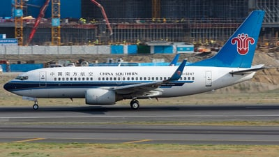 A picture of B5247 - Boeing 73771B - China Southern Airlines - © Marcus Yu