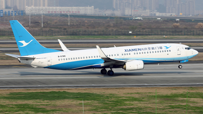 A picture of B5789 - Boeing 73785C - Xiamen Air - © YIJING HOU