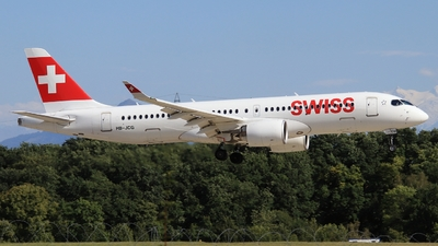 A picture of HBJCG - Airbus A220300 - Swiss - © AirBusAl