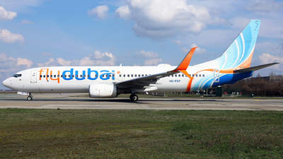 A picture of A6FEP - Boeing 7378KN - FlyDubai - © Marin Ghe.