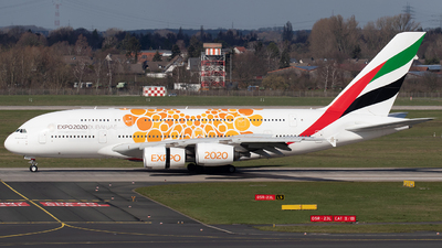 A picture of A6EOV - Airbus A380861 - Emirates - © Der Kölner