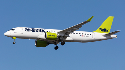 A picture of YLAAQ - Airbus A220300 - Air Baltic - © Oleksandr Smerychansky