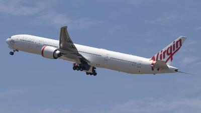 A picture of VHVPF - Boeing 7773ZG(ER) - Virgin Australia - © Jun You