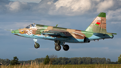 36 - Sukhoi Su-25 Frogfoot - Belarus - Air Force