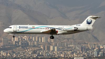 EP-ASQ - Fokker 100 - Iran Aseman Airlines